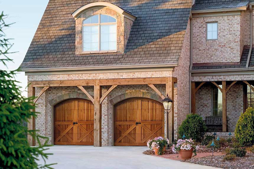 Precision garage door ct photo gallery of garage door styles in connecticut - Double wooden garage doors ...